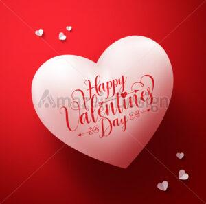 Happy Valentines Day Calligraphy Greetings Vector - Amazeindesign