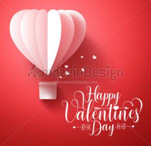 Happy Valentines Day Vector Greetings Card Design - Amazeindesign