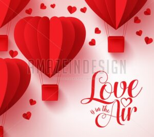 Love is in the Air Typography for Valentines Day - Amazeindesign