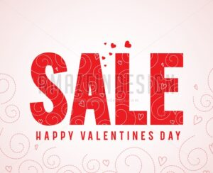Sale Text Happy Valentines Day Greetings - Amazeindesign