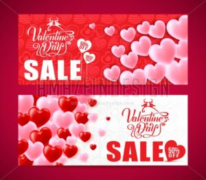 Lovely Banners Of Valentines Day Sale - Amazeindesign