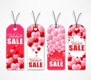 Valentines Day Sale Creative Tags - Amazeindesign