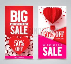 Valentines Day Sale Vector Poster Designs and Banners - Amazeindesign