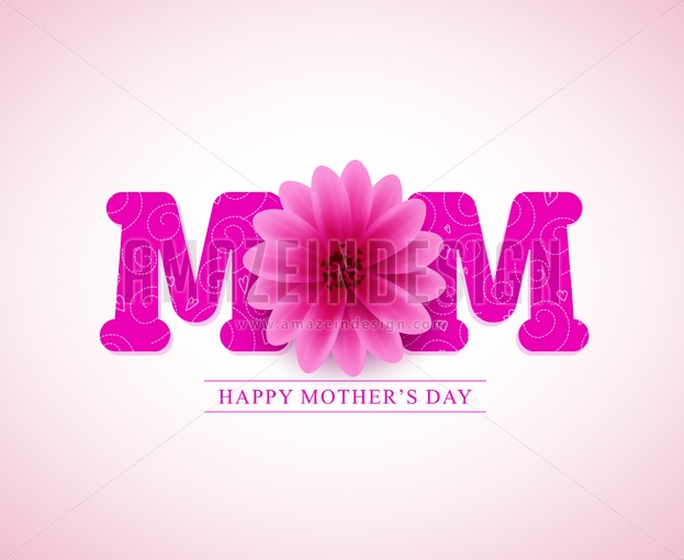 Happy mothers day vector greetings card design with 3d mom text happy mothers day vector greetings card design with 3d mom text amazeindesign m4hsunfo