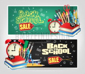 Back to School Sale Banners Vector - Amazeindesign