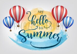 Beautiful Say Hello to Summer Lettering - Amazeindesign