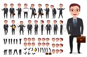 Business man character creation set - Amazeindesign
