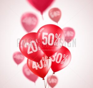 Red discount balloons vector flying red balloons - Amazeindesign
