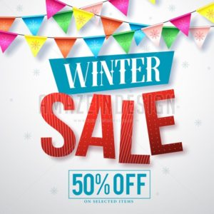 Winter sale vector banner design for promotions - Amazeindesign