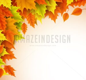 Autumn Vector Background Template for Fall Season - Amazeindesign