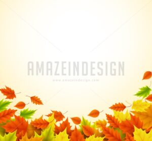 Fall Vector Background for Autumn with Maple Leaves - Amazeindesign