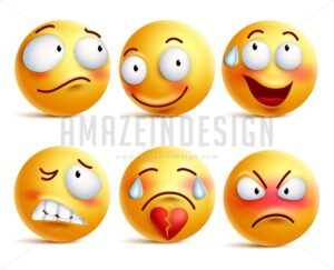 Smileys Vector Set Smiley Face or Yellow Emoticons - Amazeindesign