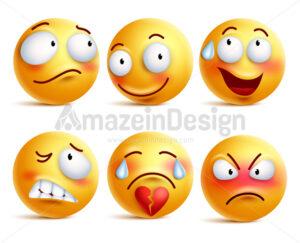 Smileys Vector Set Smiley Face or Yellow Emoticons - Amazeindesign