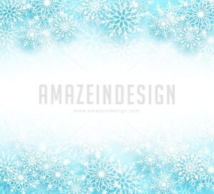 Snow Winter Vector Background with Different Shapes - Amazeindesign