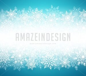 Winter Snow Vector Background with White Snow Flakes - Amazeindesign