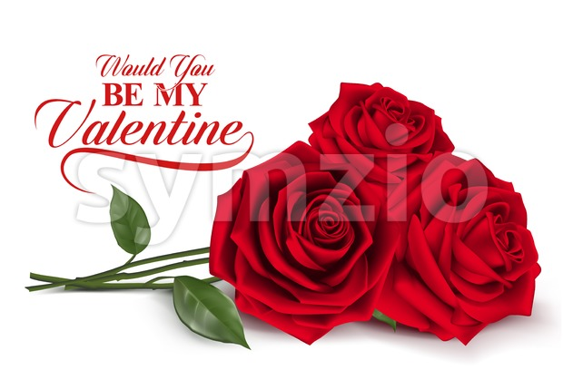 Sweet Valentines Day Background with Realistic Red Roses Vector Illustration. This valentines vector  was design with 3D realistic looks and rich in ...