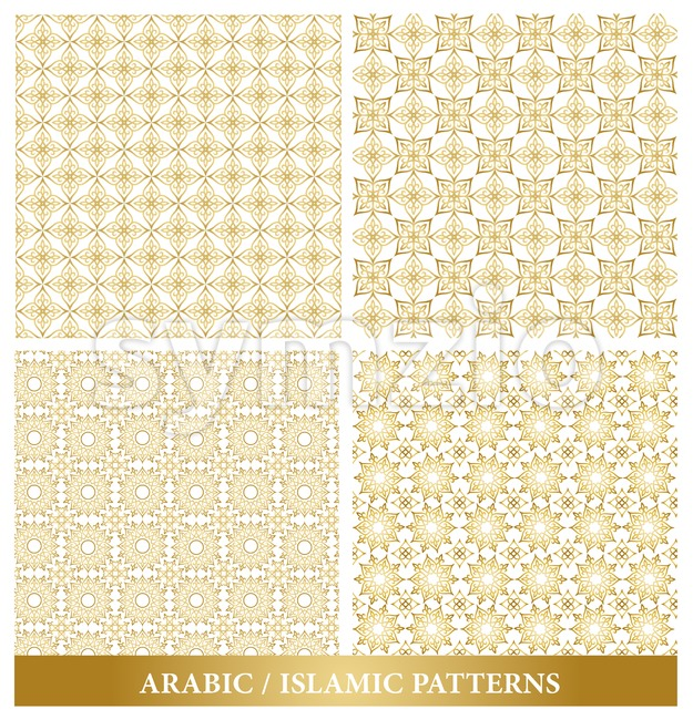 Set of Vector Elegant Seamless Islamic Pattern Stock Vector