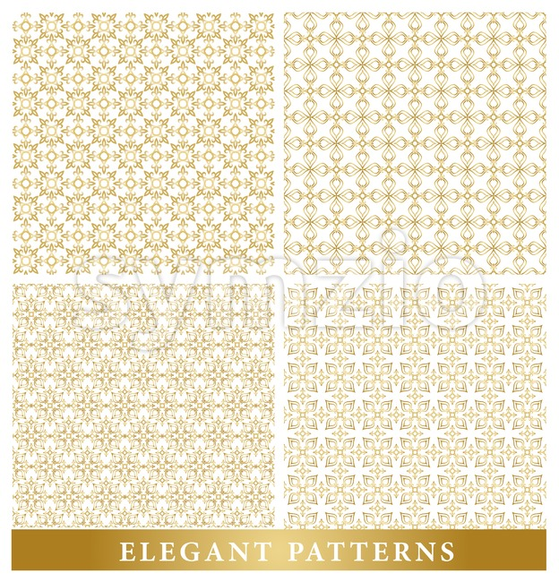 Set of Vector Islamic or Arabic Seamless Pattern Stock Vector