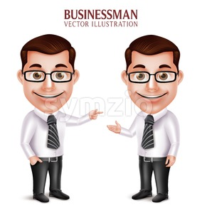Man Character Presentation for Business Vector Stock Vector