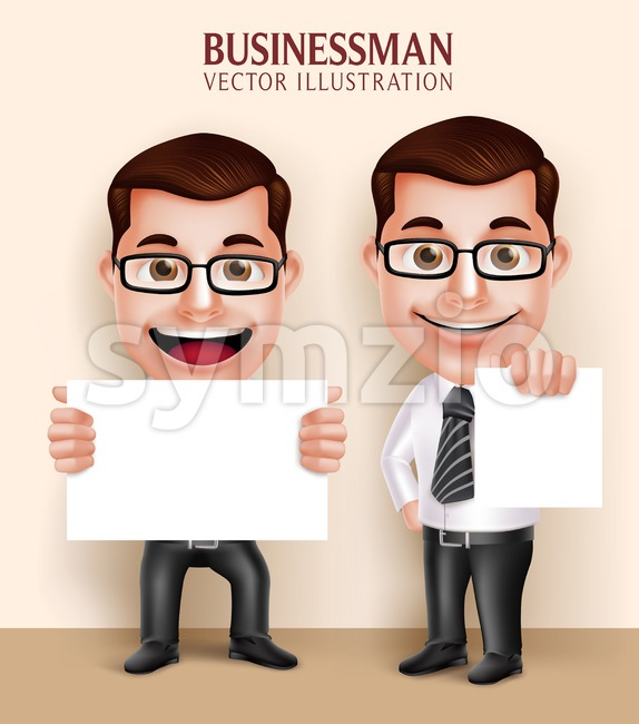 Professional Man Character Holding Vector Stock Vector
