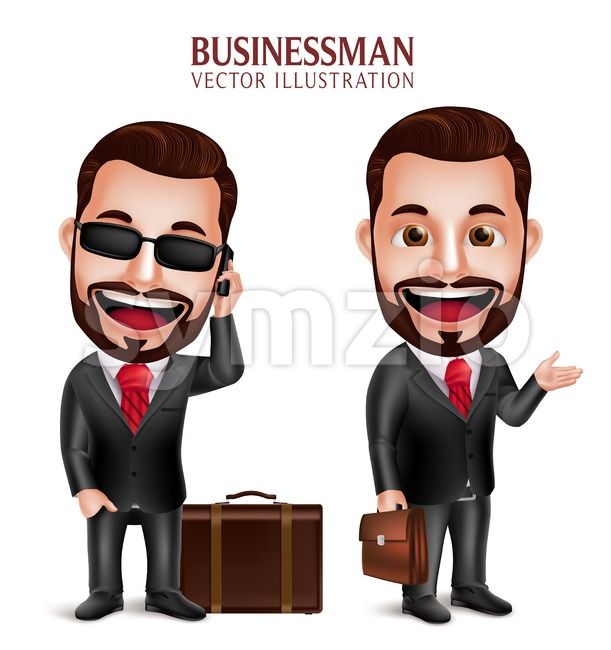 Traveling Business Man Vector Character Stock Vector