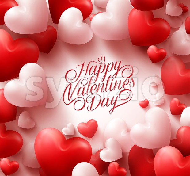 Red Hearts Valentines Background Vector Stock Vector