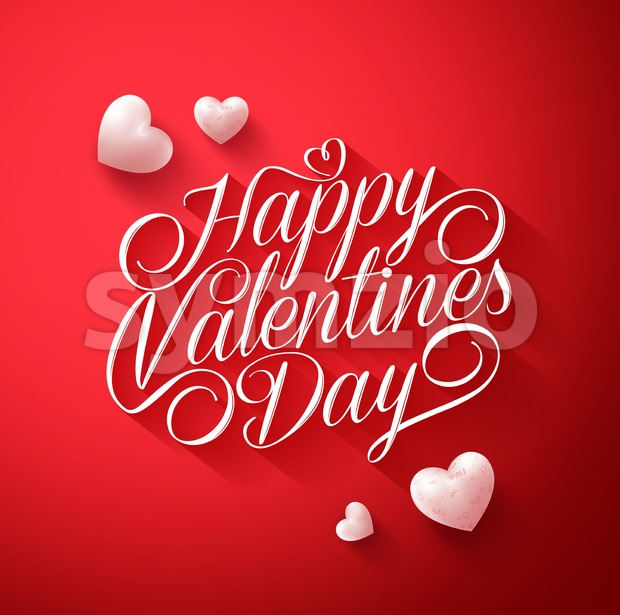Happy Valentines Day Title Vector Typography Stock Vector