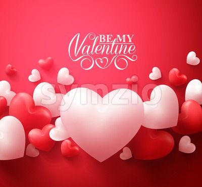Romantic Valentine Hearts Background Vector Stock Vector