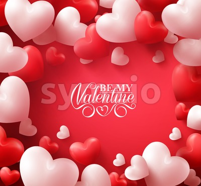 Romantic Vector Hearts Valentine Background Stock Vector