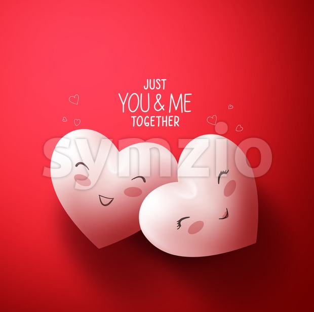 Vector Sweet Hearts of Lovers for Valentines Stock Vector
