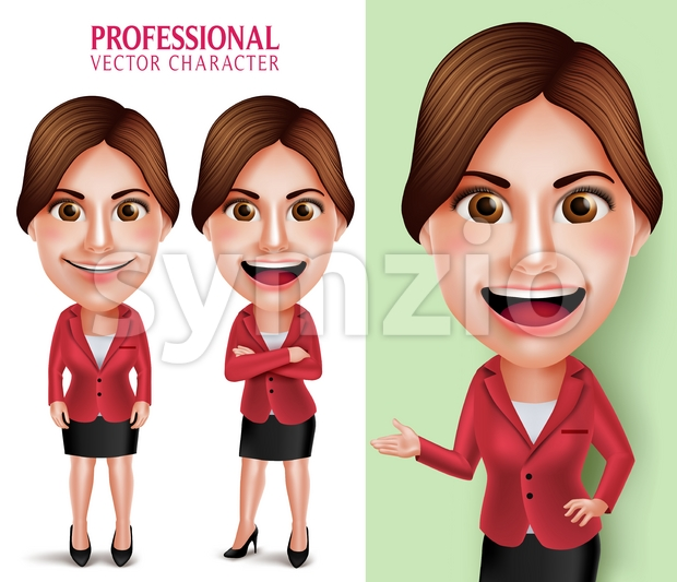School Teacher or Businesswoman Vector Character Stock Vector