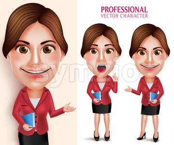 School Teacher Vector Character Teaching Lesson Stock Vector
