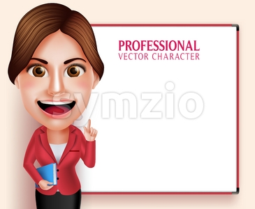 School Teacher Vector Character Teaching Lessons Stock Vector
