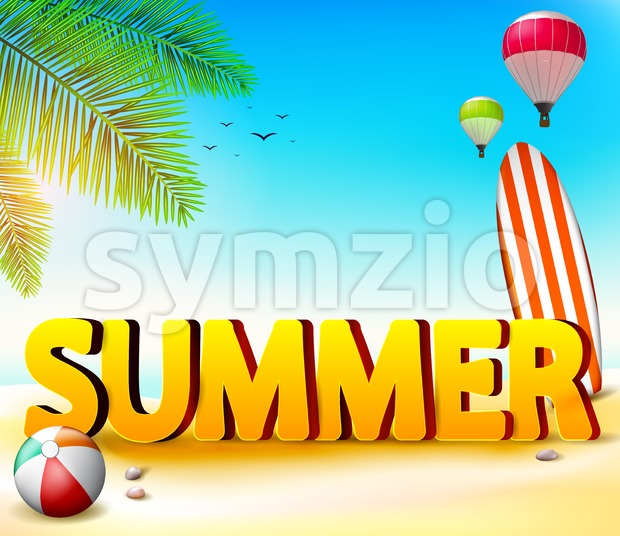 Summer Beach Seashore Background Stock Vector