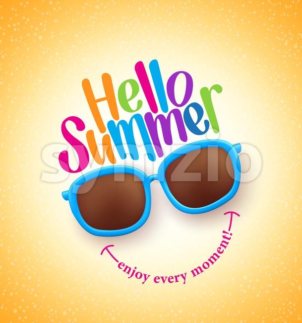 Summer Shades with Hello Summer Vector Stock Vector