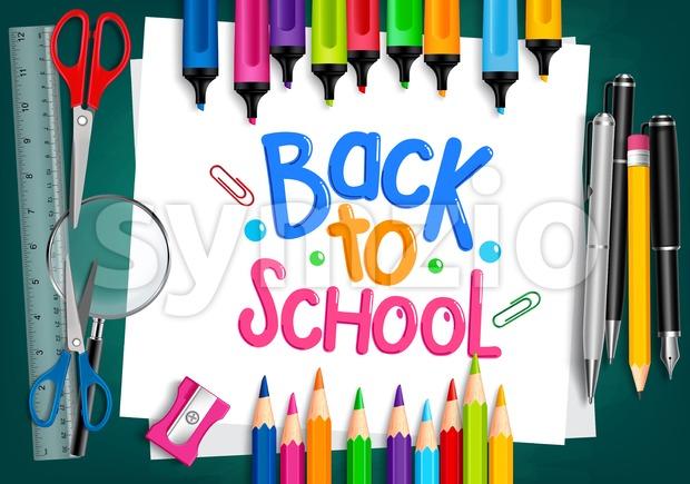 Back to School Illustration Vector School Items Stock Vector
