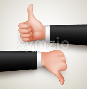 Vector Like and Unlike Hand Gesture Stock Vector