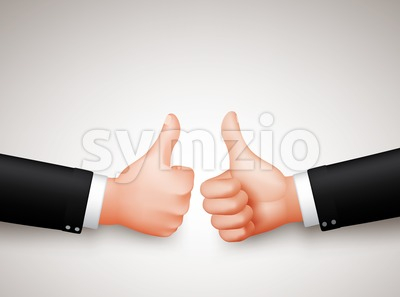 Thumbs Up Sign Vector of Two Businessman Stock Vector