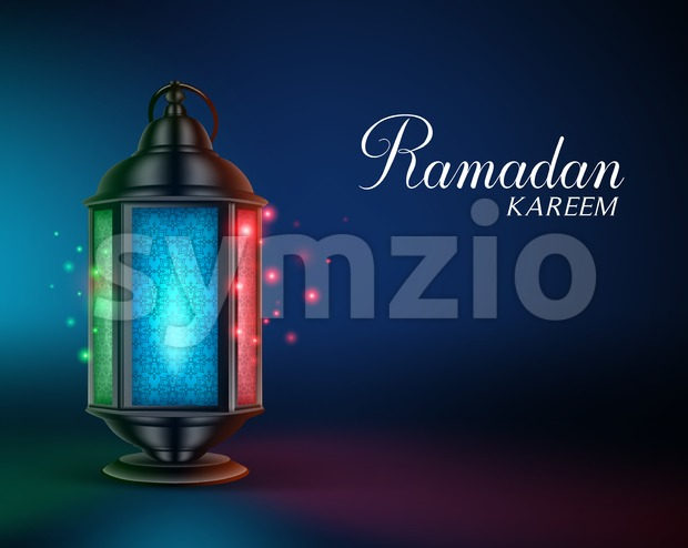Ramadan Lantern or Fanous Vector Illustration Stock Vector