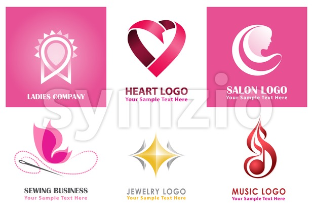 Unique Vector Logo Collections for Ladies Stock Vector