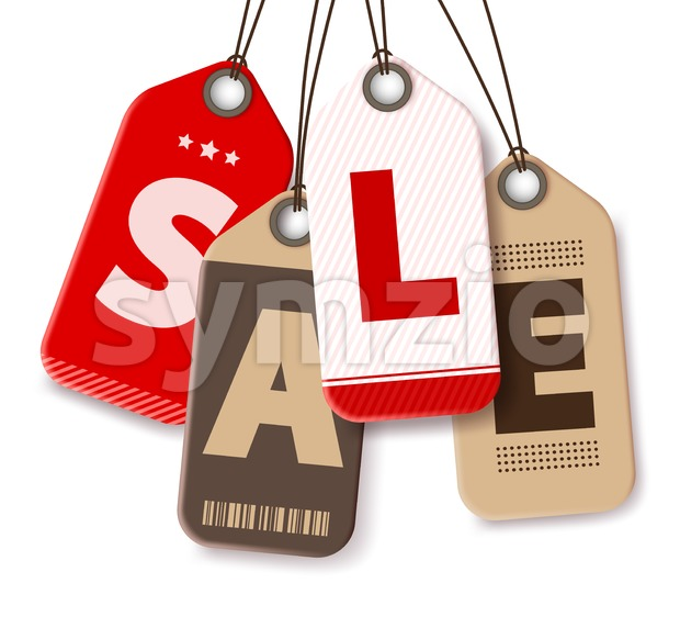 Sale Tags Vector for Shopping Promotions Stock Vector