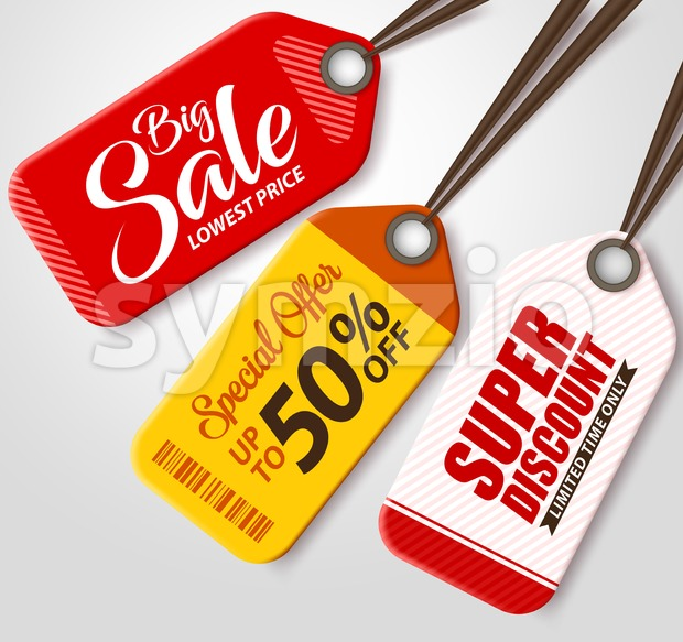 Vector Sale Tags Set for Shopping Discounts Stock Vector