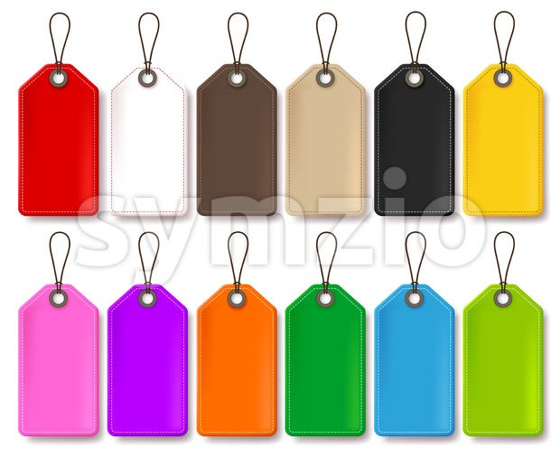 Colorful Vector Price Tags Collection Isolated in White Background for Store Promotional Templates with Empty Space for Text Vector Illustration.This ...