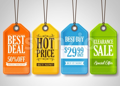 Vector Sale Tags Design Collection for Promotion Stock Vector