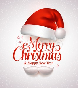 Merry Christmas Title Typography Vector Concept Stock Vector