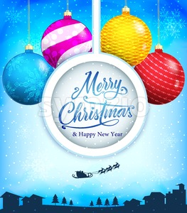 Merry Christmas and Happy New Year Winter Stock Vector