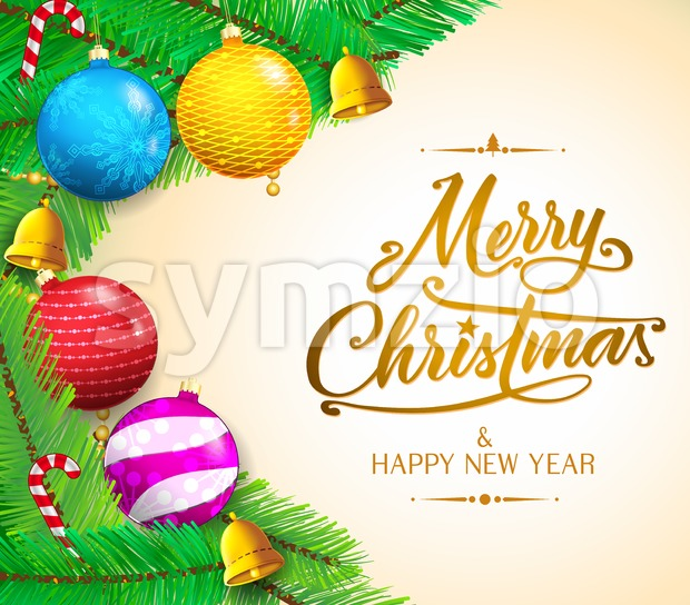 Christmas Messages and Colorful objects Stock Vector