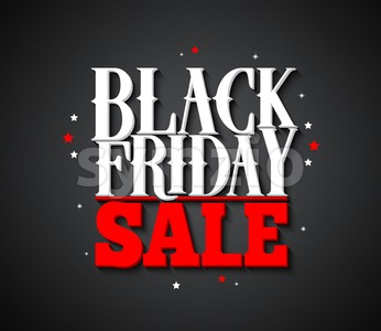 Black Friday Sale Vector Banner Design Background Stock Vector