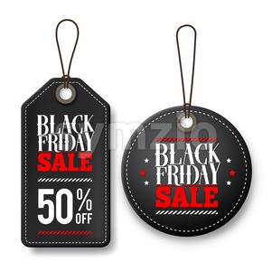 Black Friday Sale Vector Price Tags for Promotions Stock Vector