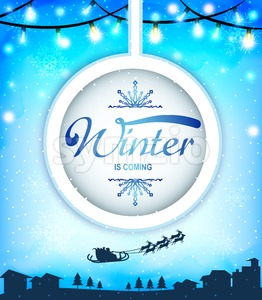 Snowy Winter is Coming Greeting Card Stock Vector